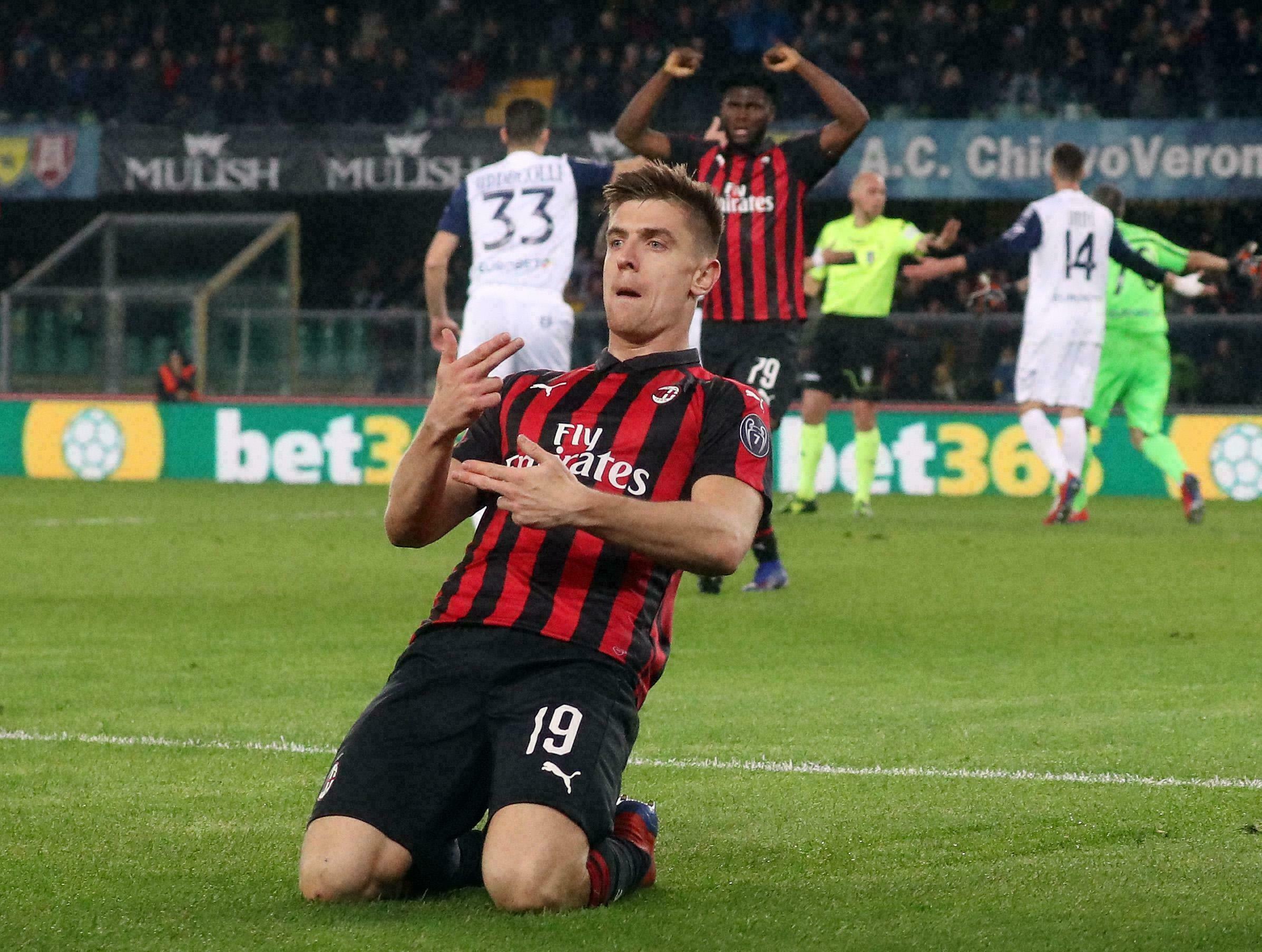 Otro gol de Piatek afirma al Milan como tercero en Serie A
