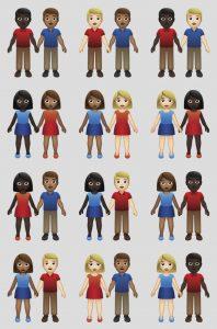 Dioses del Emoji incluyen parejas interraciales