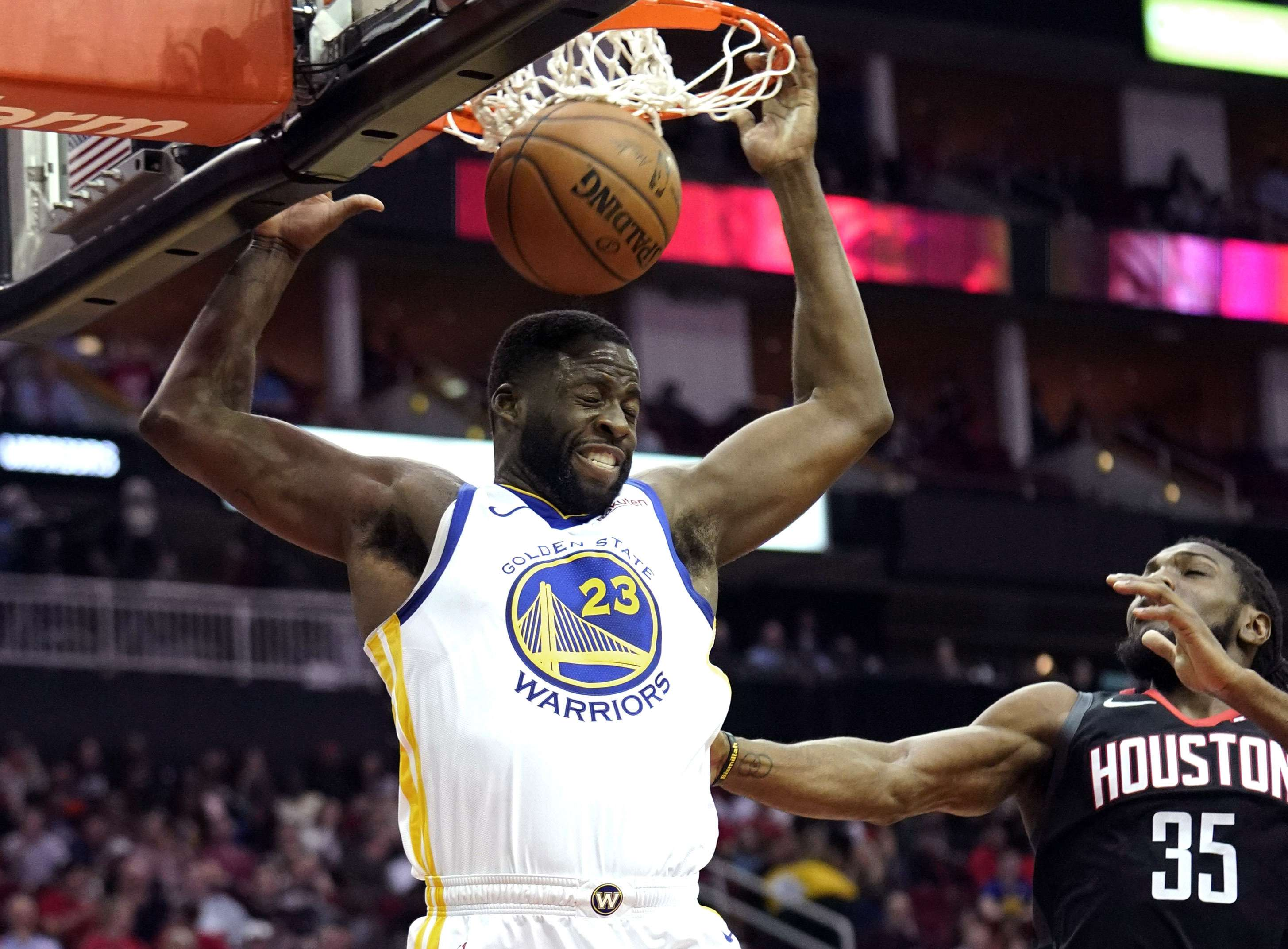 Thompson y Warriors frenan racha de Rockets