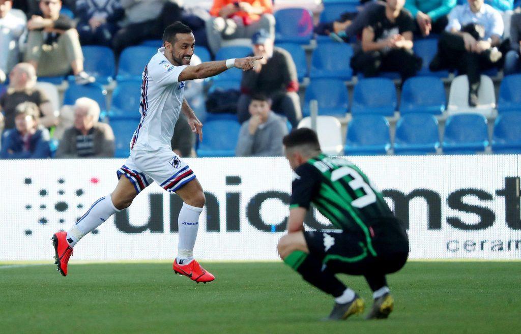 Quagliarella anota de nuevo, Sampdoria vence 5-3 a Sassuolo