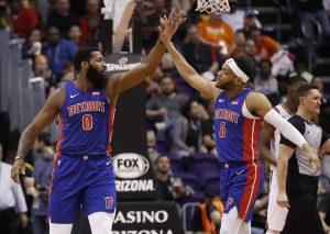 Con 17 triples, Pistons arrollan a Suns