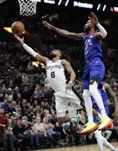 Spurs obligan a 7mo juego, con paliza sobre Nuggets