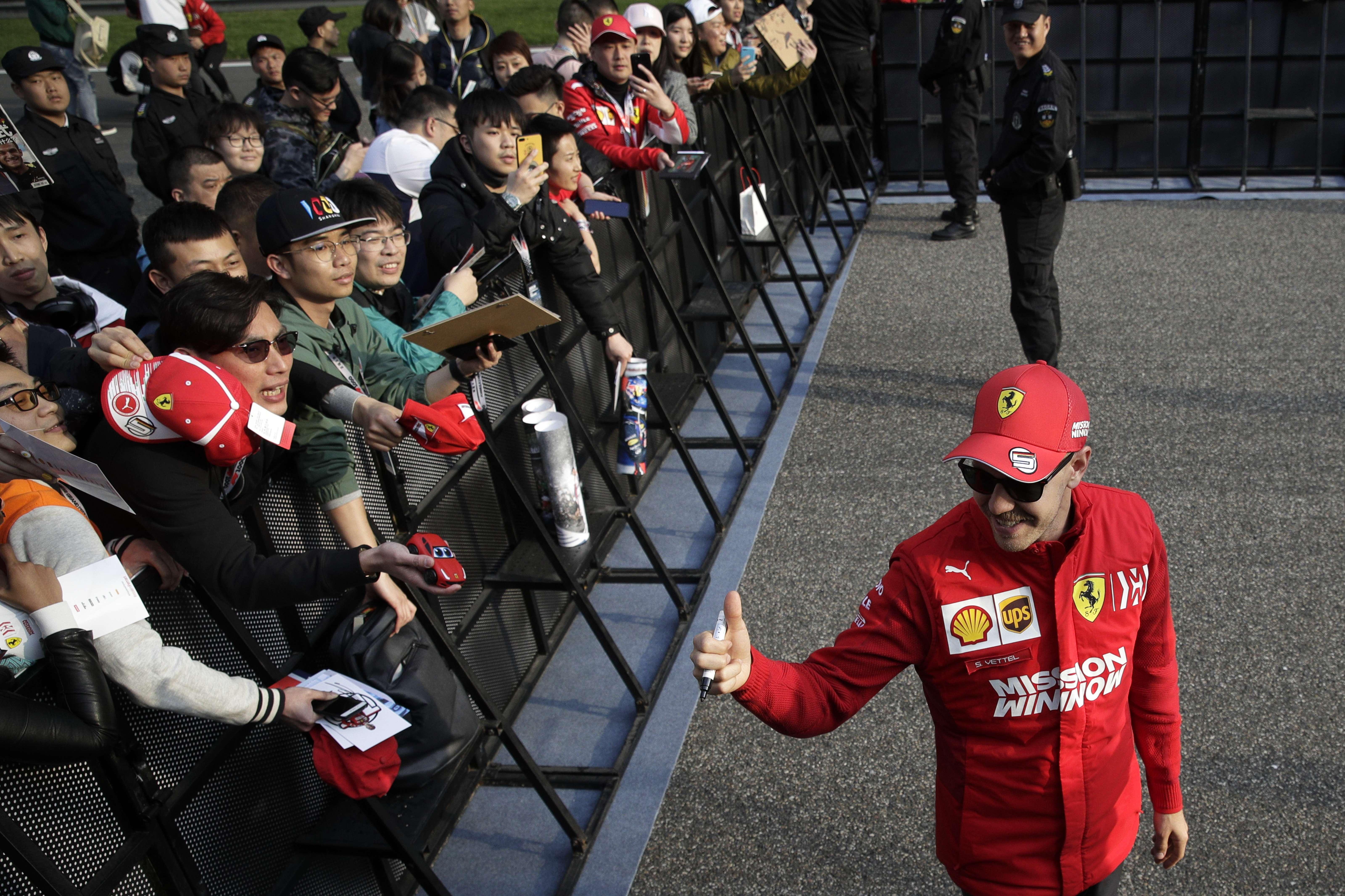 Vettel, el más veloz en 1ra práctica para GP de China