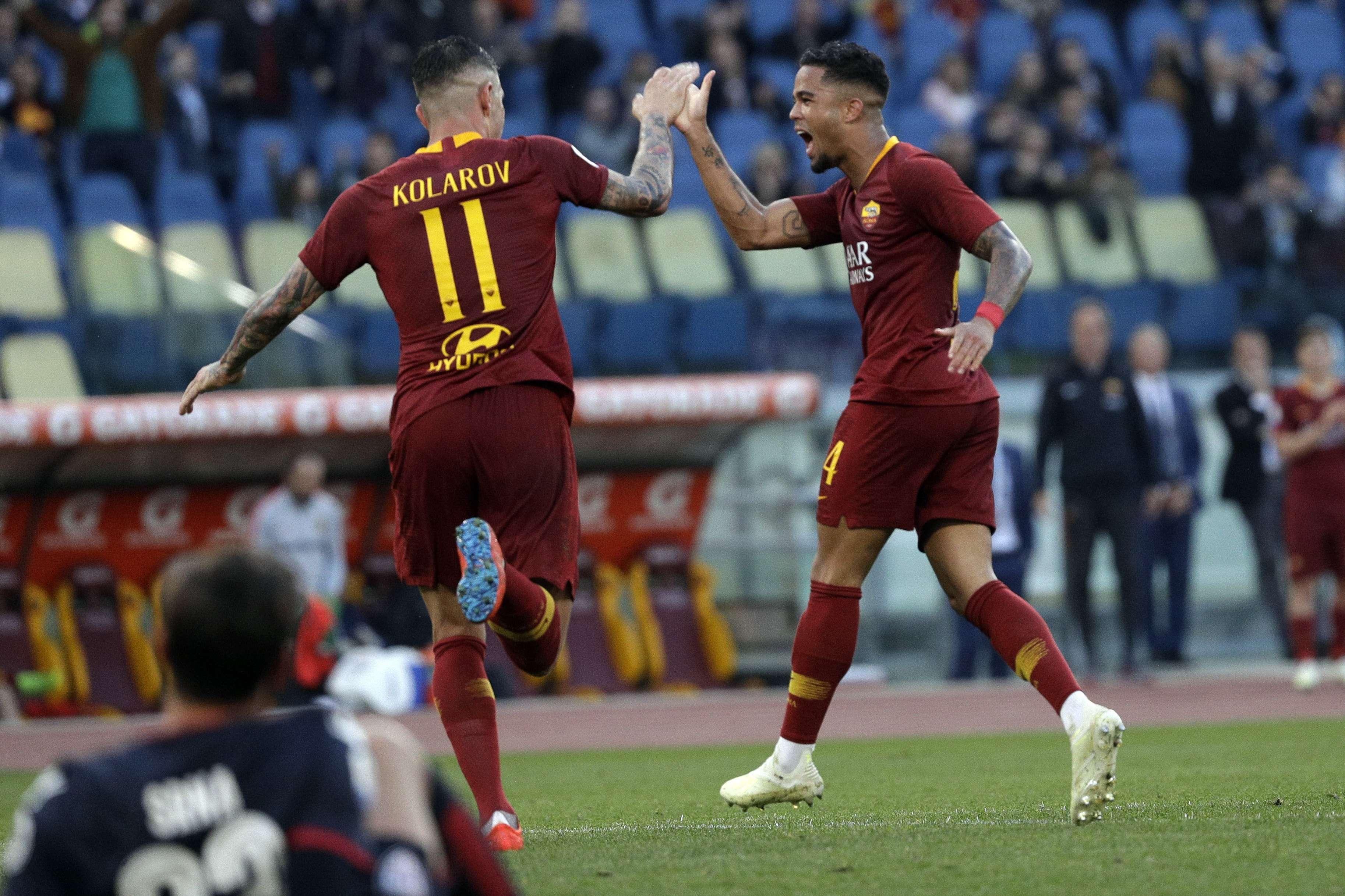 Roma vence a Cagliari, sube al 4to en Serie A