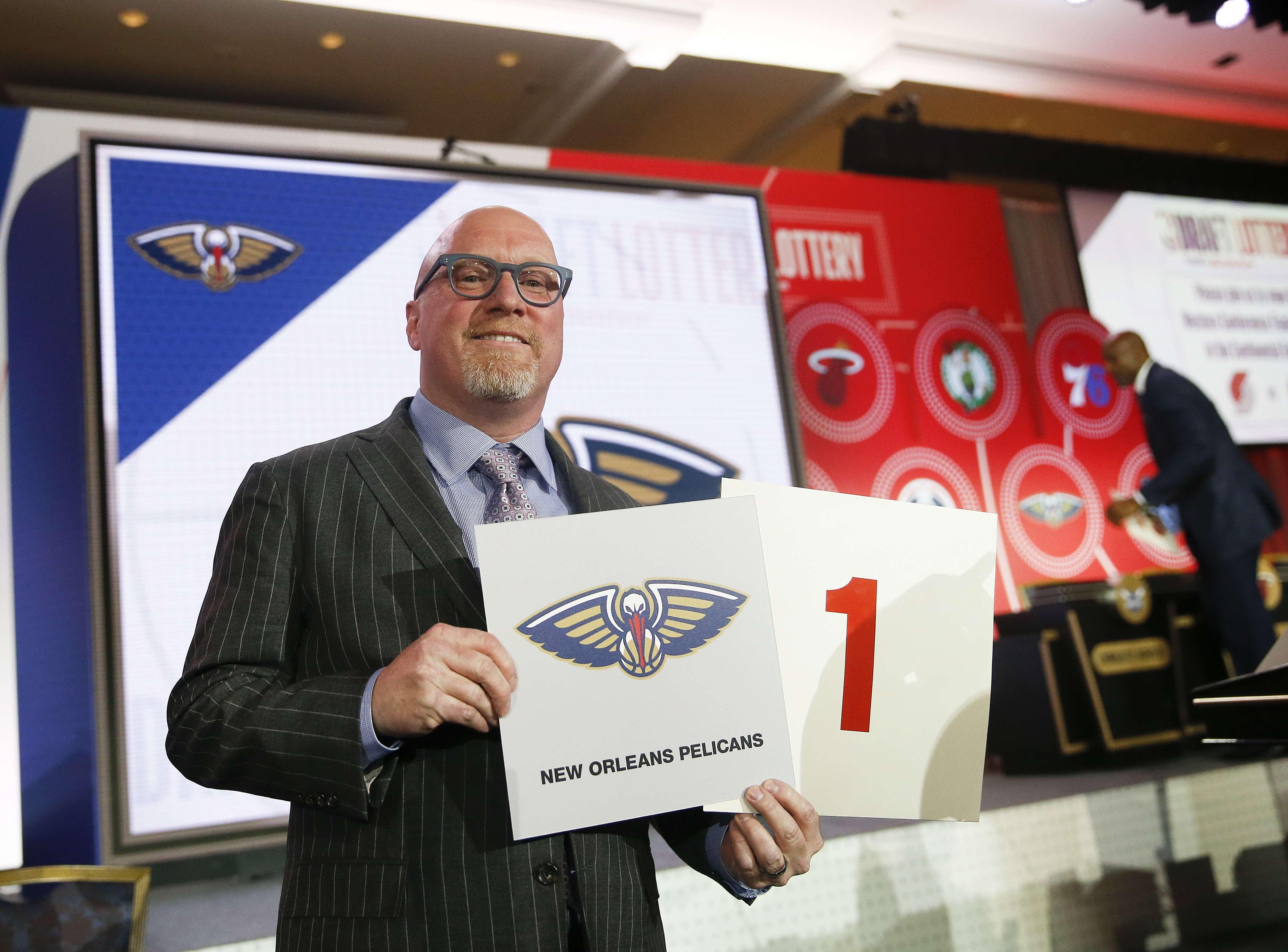 Pelicans ganan lotería de draft de la NBA y elegirán primero