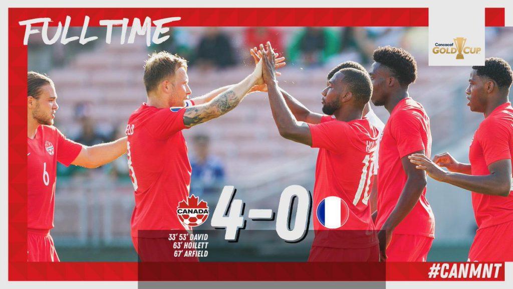 Canadá golea 4-0 a Martinica en el partido inaugural de la Copa Oro