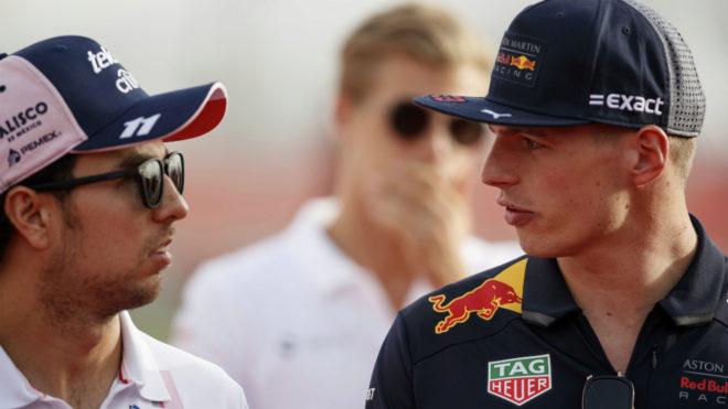 """""""Checo"""" Pérez considera que F1 permita rebases como el de Max Verstappen"""