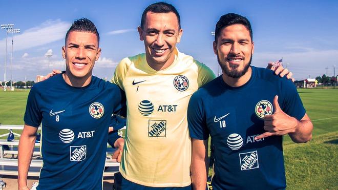Agustín Marchesín, Bruno Valdez y Mateus Uribe reportan con América