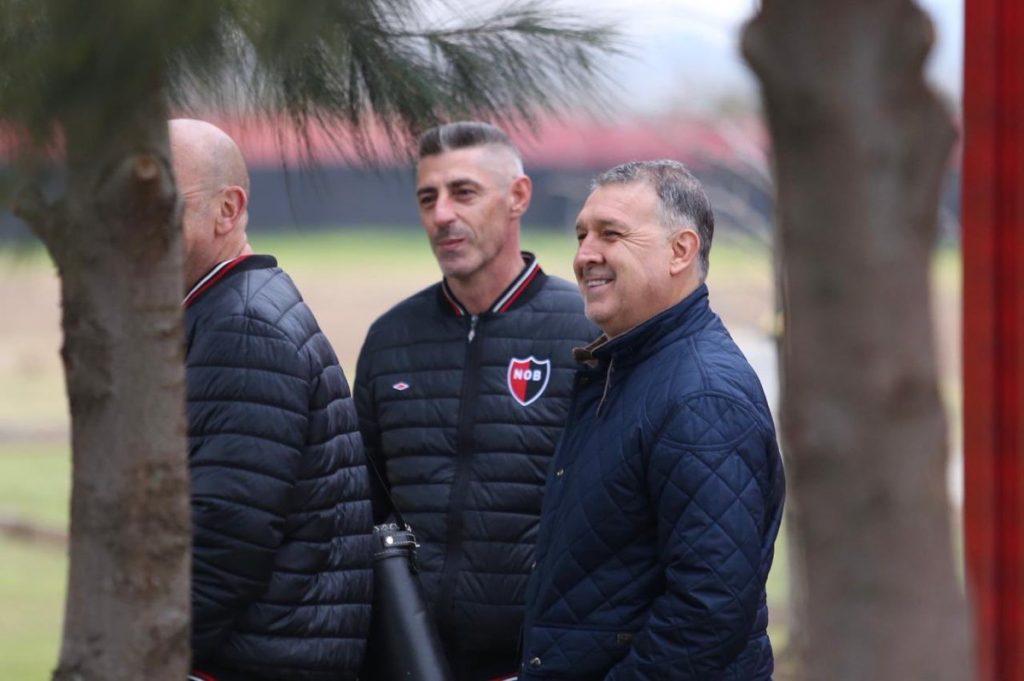 Gerardo 'Tata' Martino visitó las instalaciones de Newell's Old Boys