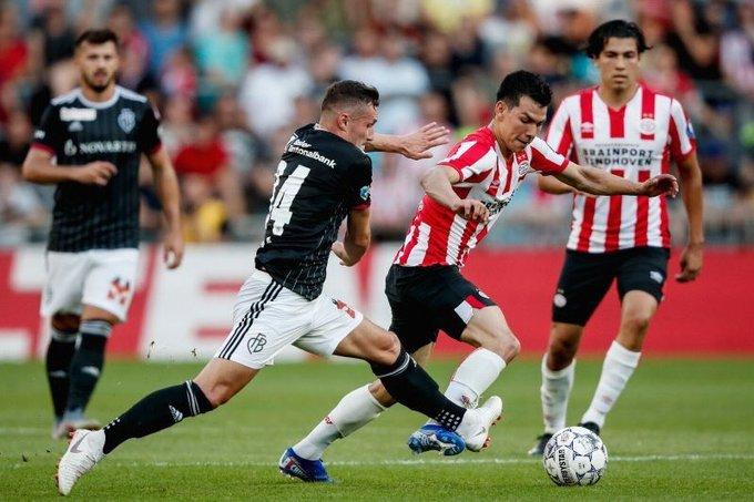Con Hirving Lozano y Erick Gutiérrez el PSV vence al Basel