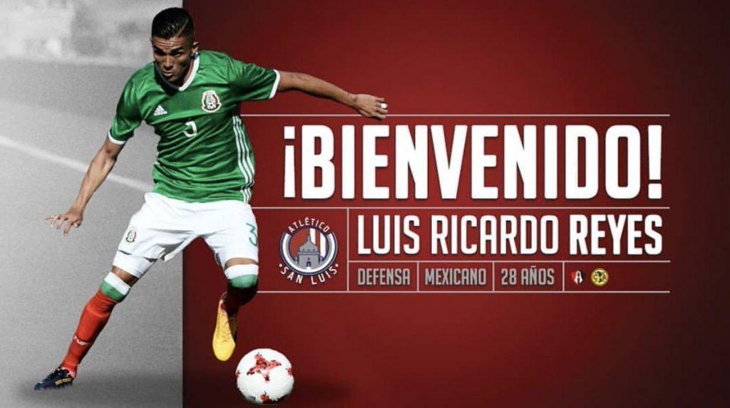 Luis Reyes vuela del América al Atlético de San Luis