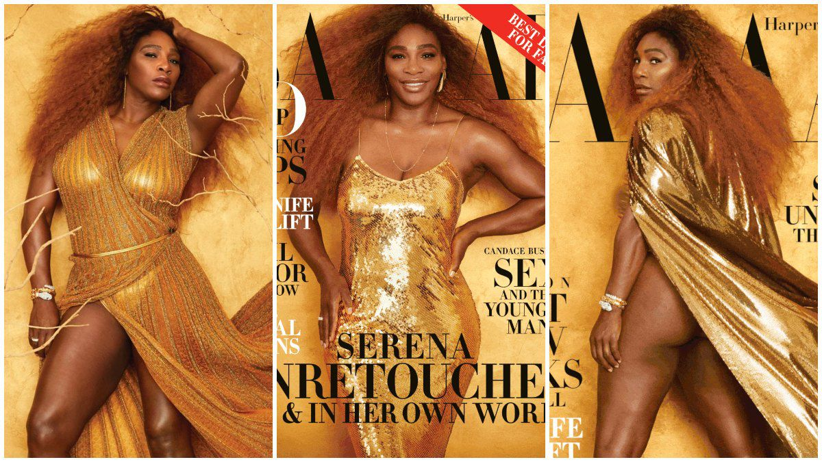 Serena Williams posa semidesnuda para revista
