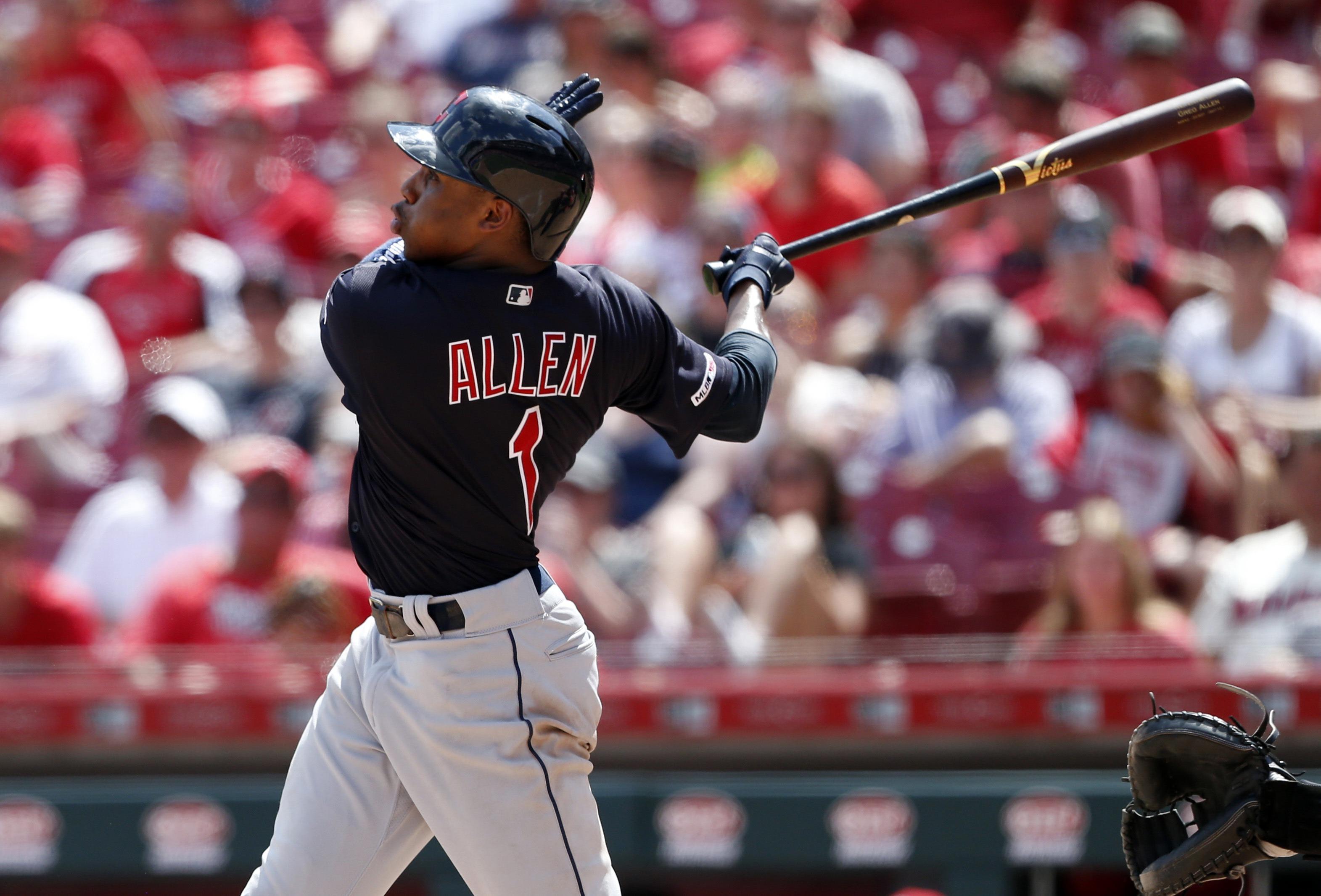 Allen guía con su bate a Indios en paliza 11-1 sobre Rojoss