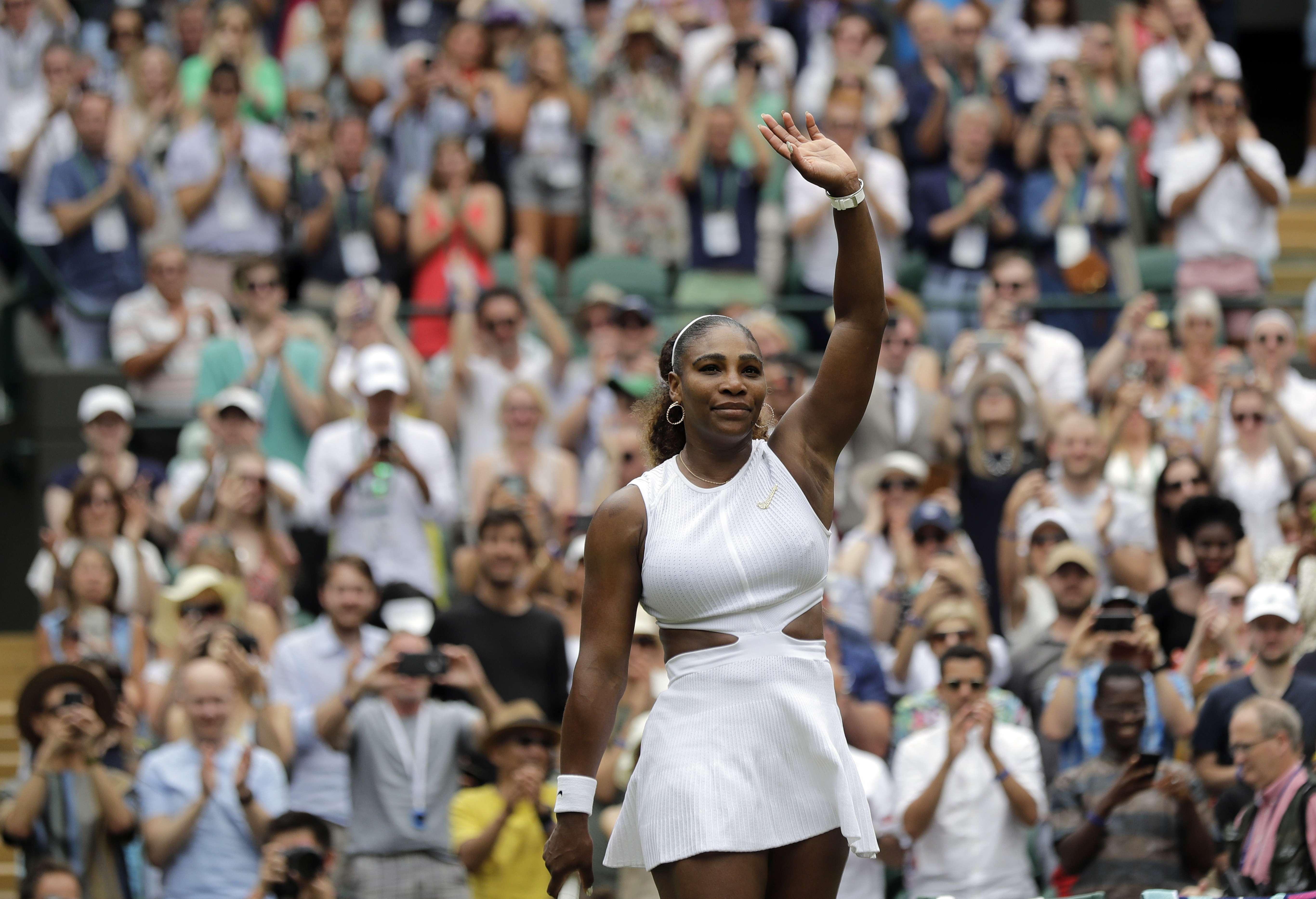 Williams, Federer y Nadal avanzan en Wimbledon