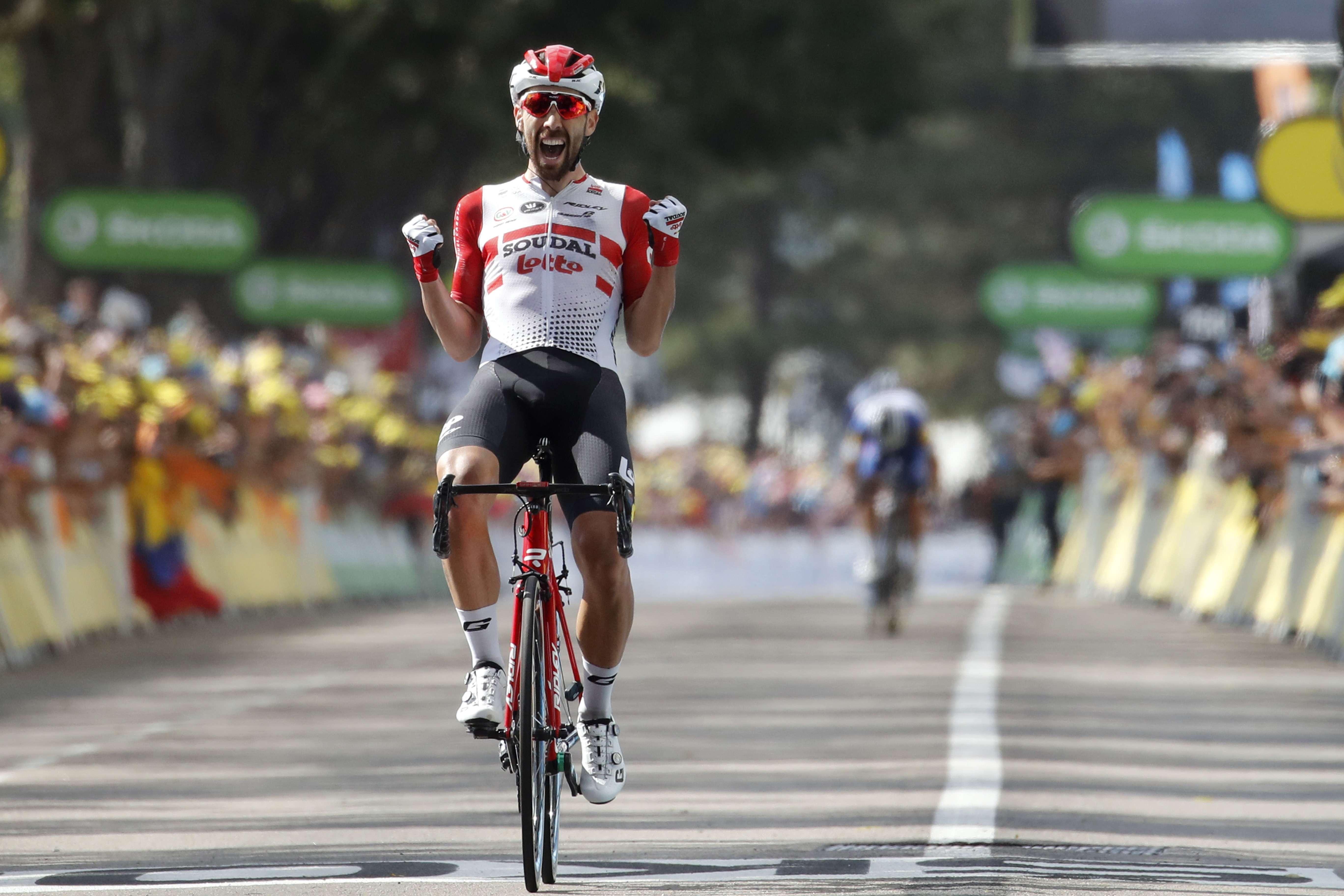De Gendt gana 8va etapa del Tour;  Alaphilippe líder
