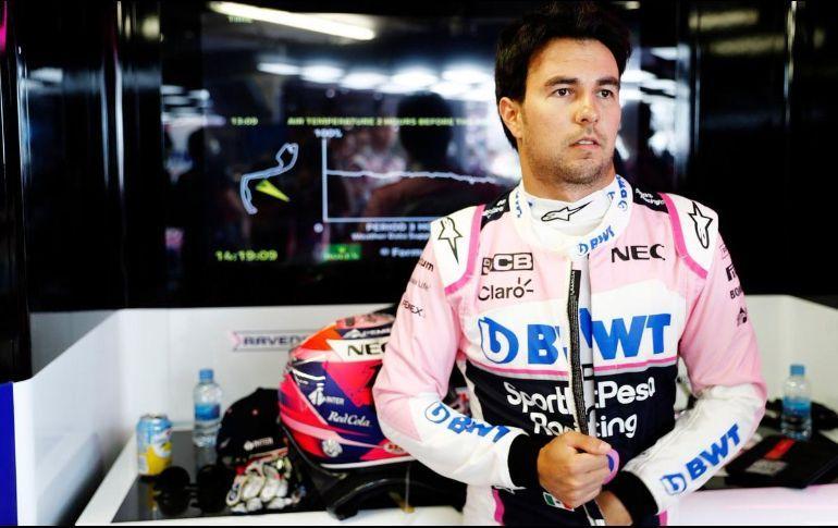 """""""Checo"""" Pérez queda 12 en primera práctica del GP de Gran Bretaña"""