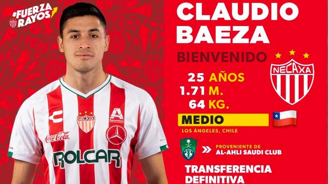 Necaxa se refuerza con chileno Claudio Baeza