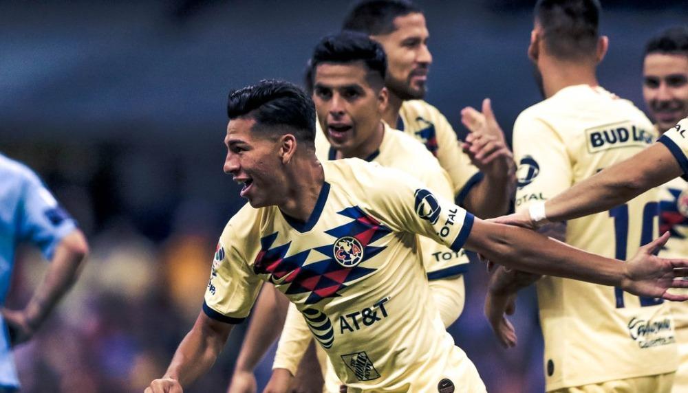 José López marcó su primer gol en Liga MX en su debut con América
