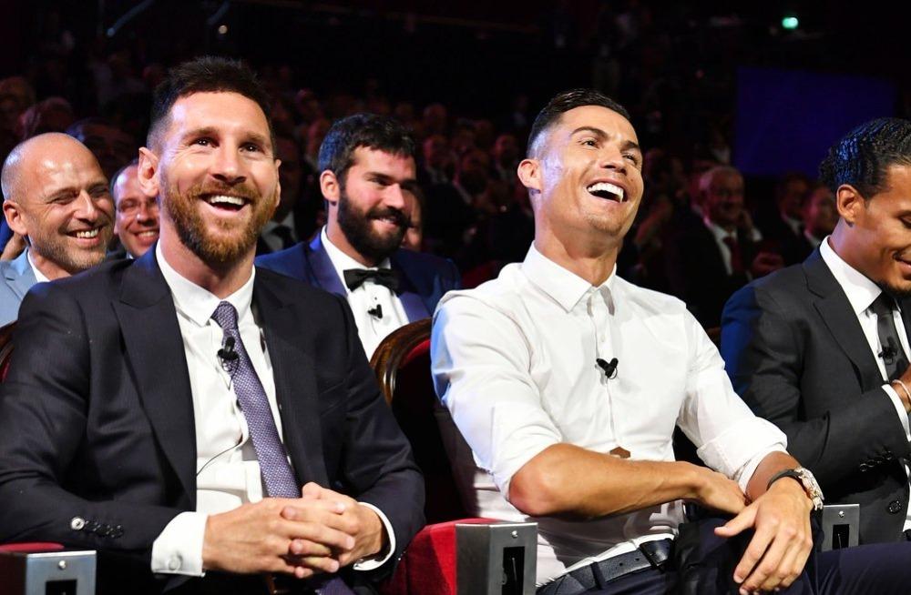 Messi y Cristiano prometen una cena juntos durante el sorteo de la Champions