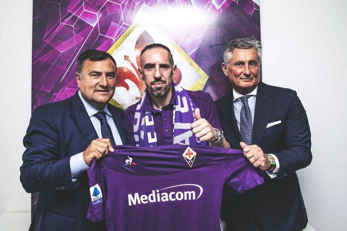 Fiorentina ficha a atacante Franck Ribéry