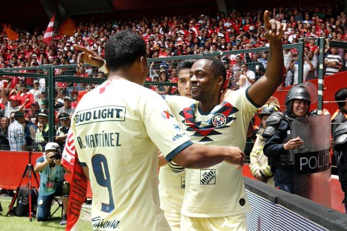 América vuela en el infierno y vence 1-0 al Toluca