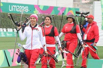 Alejandra Valencia, Aída Román y Mariana Avitia, ganan plata en el tiro con arco de Lima 2019
