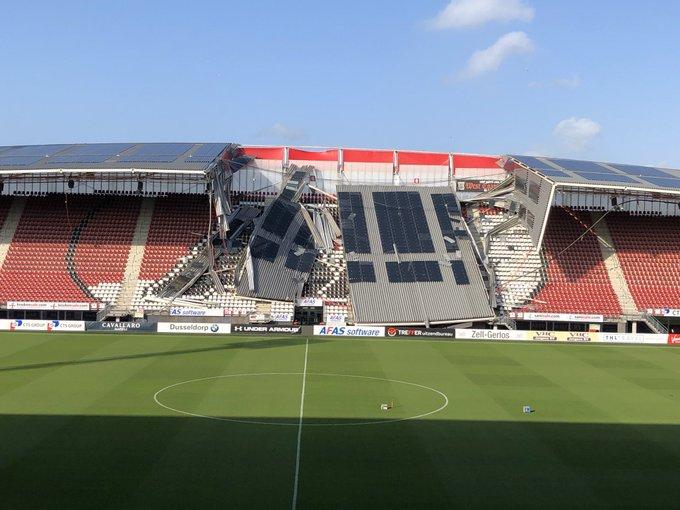 Se derrumba parte del techo del estadio de Az Alkmaar