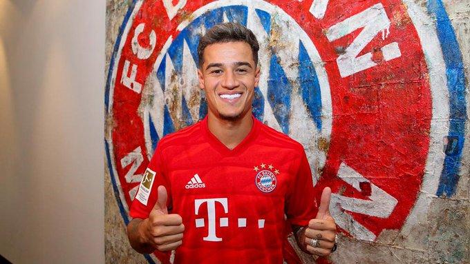 Philippe Coutinho llega a préstamo con el Bayern Múnich