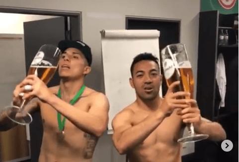 Eintracht Frankfurt celebra el día de la cerveza con foto de Carlos Salcedo