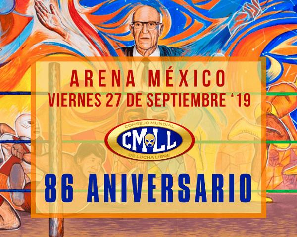 Siete luchadores apostarán cabelleras en 86 aniversario del CMLL
