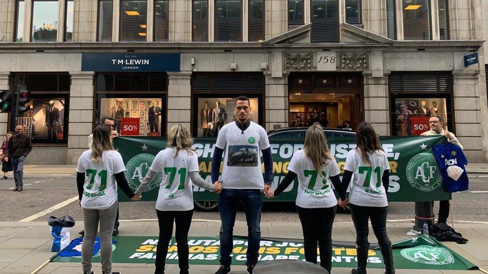 Viudas de jugadores del Chapecoense reclaman indemnización en Londres