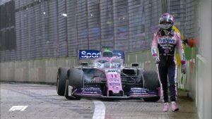 Checo Pérez decepcionado tras abandonar Gran Premio de Singapur