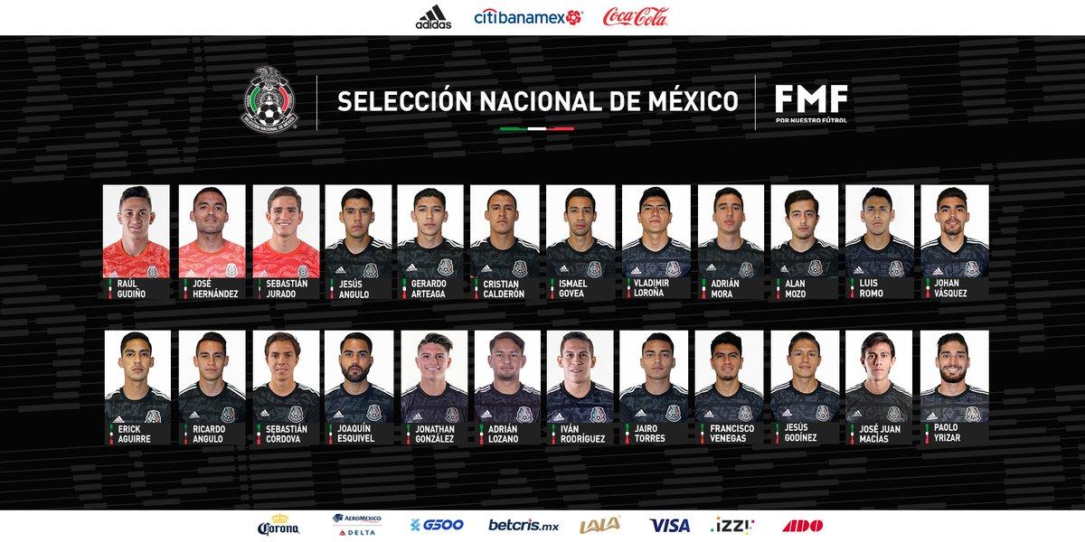 Lista la convocatoria de México para enfrentar a Trinidad y Tobago