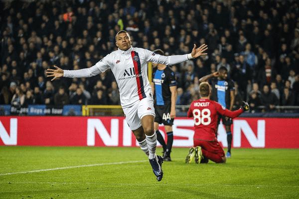 Con triplete de Kylian Mbappé el PSG golea a Brujas en la Champions League