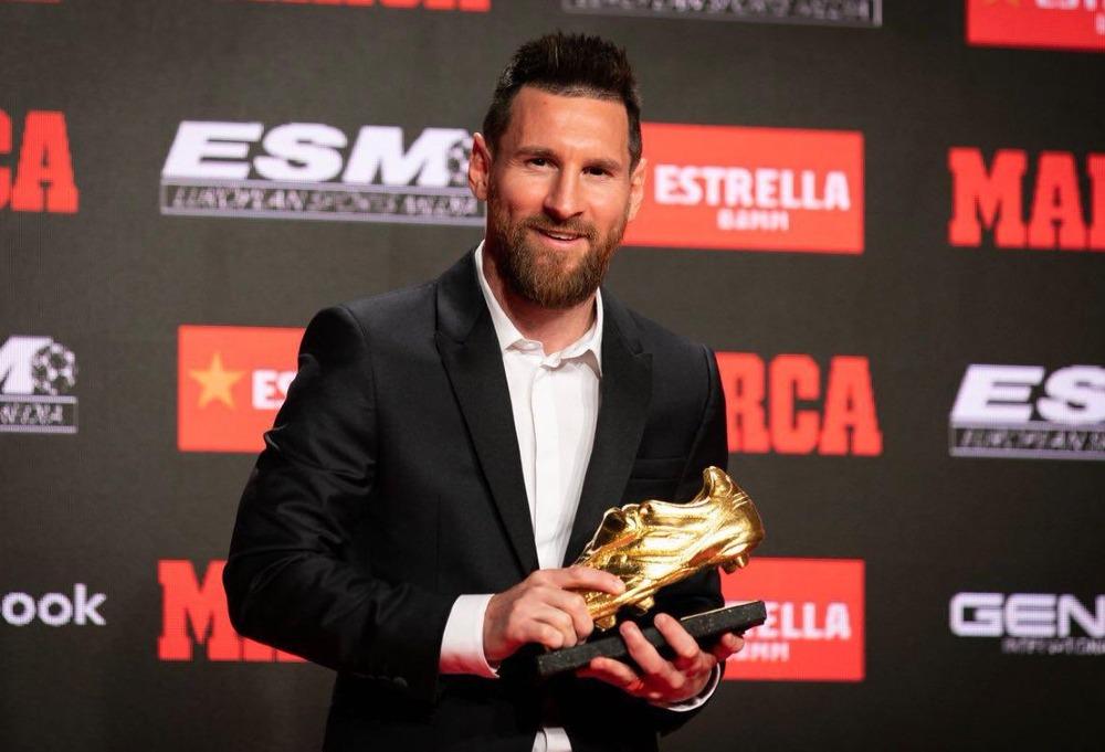 Lionel Messi recibió la Bota de Oro como máximo goleador en Europa