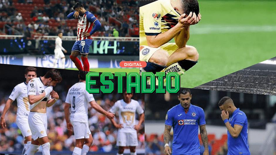 La peores rachas sin título de los cuatro grandes de la Liga MX