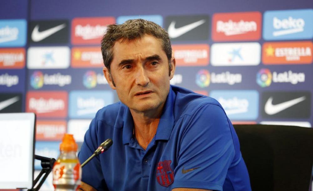 Afición del Barcelona pide la salida de Ernesto Valverde tras empate en Champions