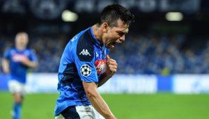 Con gol de 'Chuky' Lozano Napoli empata al Salzburg en la Champions League