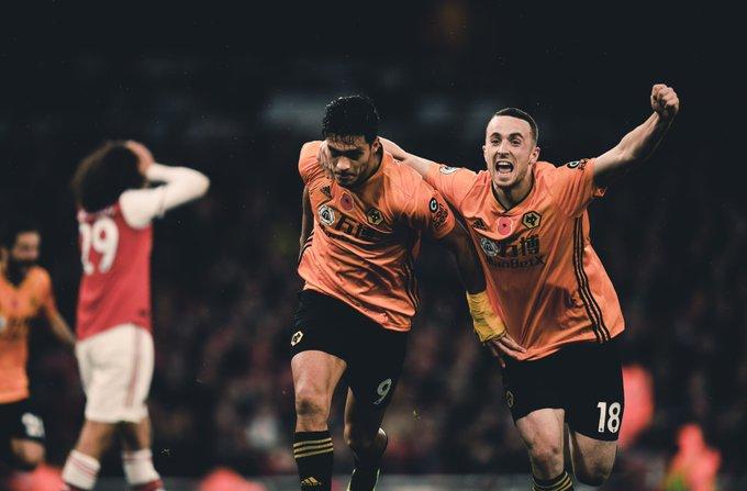 Así fue el gol de Raúl Jiménez al Arsenal