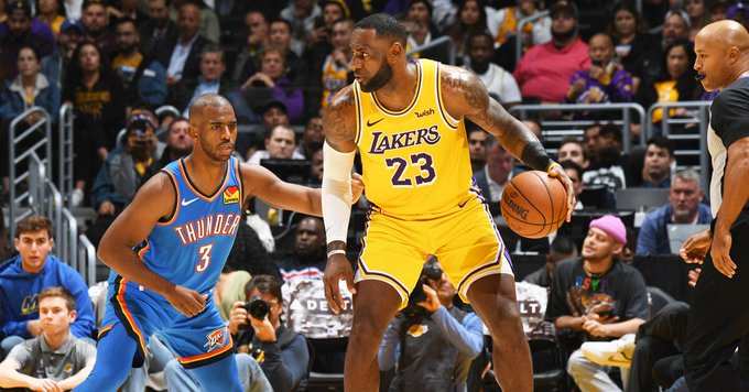 Oklahoma Thunder vs LA Lakers: Horario y dónde ver EN VIVO la NBA