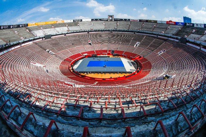 Así luce la Plaza México previo al juego de Roger Federer vs Alex Zverev