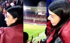 En partido de Chivas exponen a #LadyCerveza por ocasionar pelea